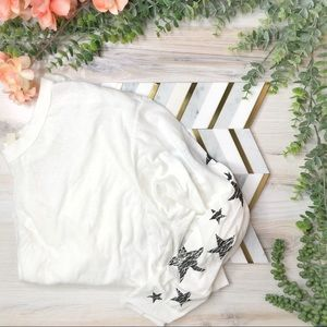 NWT Free People Active White Star Top